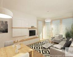 Aranżacje wnętrz - Salon: Projekt mieszkania w Wilanowie, pow. 52 m2 - Średni salon z bibiloteczką z jadalnią, styl skandynawski - 4ma projekt. Przeglądaj, dodawaj i zapisuj najlepsze zdjęcia, pomysły i inspiracje designerskie. W bazie mamy już prawie milion fotografii!