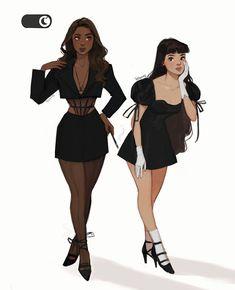 Fashion Design Drawings, Fashion Sketches, Desenho Audrey Hepburn, Pretty Drawings, Cute Art Styles, Black Girl Art, Digital Art Girl, Character Outfits, Pretty Art