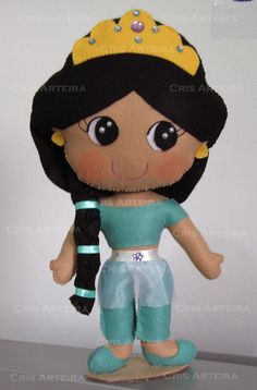 Boneca Jasmine em feltro