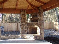 Outdoor Fireplace with BBQ Grill and Pizza Oven - traditional - patio - portland - by Brown Bros. Masonry