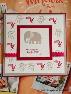 Stampin Up, Zoo Babies, Geburtstags Karte, Kindergeburtstag, Baby Karte, Birthday Card, Kids
