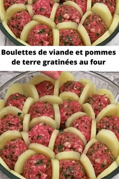 Baked meatballs and potatoes Easy Chinese Recipes, Indian Food Recipes, Meatball Bake, Cuisine Diverse, Sweet Cooking, Homemade Bbq, Food Garnishes, My Best Recipe, Love Food