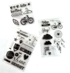A set of 3 clear stamps are $7.99 today!!!