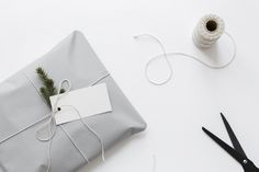sweet and simple: wrapping with twine and plant clippings