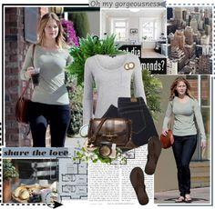 """""""Celebrity Style: Jennifer Lawrence"""" by tessa525 ❤ liked on Polyvore"""