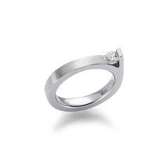 Contemporary Solitaire 1/4ct Diamond Engagement Ring 3.5mm DEVOTED TO YOU COLLECTION engagement rings for gay & lesbian couples from: http://www.wooltonandhewitt.co.uk/gay-lesbian-engagement-rings/whg7-29688-35.htm #gay #lesbian #gaydiamondring #lesbiandiamondring