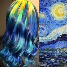 Ursula Goff, a Kansas-based hairstylist, has been gorgeously coloring hair to look like famous paintings.   This Hairstylist Reinterprets Famous Paintings As Hair Colors