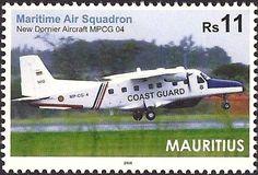 Stamp: New Dornier Aircracft MPCG 04 (Mauritius) (Commissioning Ceremony of the New Dornier MPCG 4) Mi:MU 1167