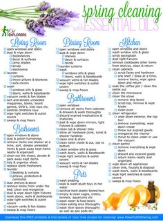 Spring Cleaning with NO Chemicals! Recipes plus Free Printable Checklist