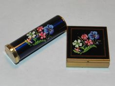 Enamel Pill Box & Lipstick Case