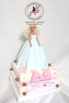 Barbie wedding cake