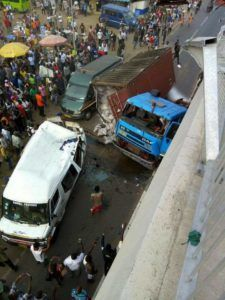 Truck carrying container falls over newly constructed bridge in Ghana - GistAlways.com
