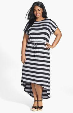 Caslon® High/Low Maxi Dress (Plus Size) | Nordstrom