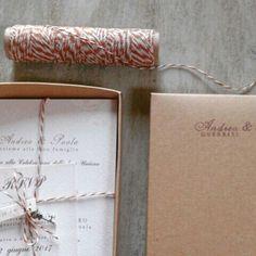 Partecipazione matrimonio in scatola