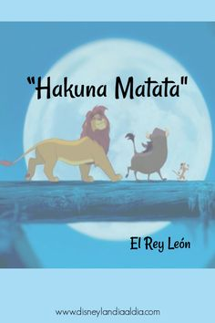 "Hakuna Matata ""no te preocupes por nada"" y seamos buenos amigos. #FrasesDisney #Disneylandia #peliculasDisney #frases #frasesdeamistad Disney Marvel, Disney Pixar, Disney Characters, Disney Love, Disney Magic, Hakuna Matata Quotes, Frases Disney, Disney Movie Quotes, Walt Disney Animation Studios"