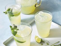 Cucumber lime lavender spritzer - This effervescent, nonalcoholic mocktail refresher offers the perfect balance of floral, tangy, and sweet flavors. Sin Gluten, Culinary Lavender, Sangria Recipes, Drink Recipes, Cocktail Recipes, Smoothie Recipes, Cucumber Recipes, Cucumber Salad, Summer Cocktails