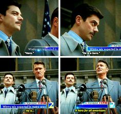 Howard Stark and Agent Jack Thompson tumblr - it's so funny how hard it is for Thompson to call him a hero