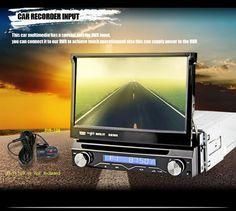 Hot 7 Inch HD Car Video Player 1 DIN Car DVD Player GPS Handfree Multimedia Player In-dash Car GPS NAVI Plyers1-DIN Instal