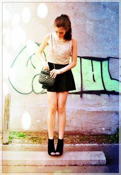 American Eagle Black Skater Skirt