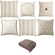Nicely Neutral - pillows and throw combo - Rustic & Woven