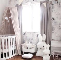 Baby girl nursery inspiration - a blush, Nordic-inspired room. Baby Bedroom, Baby Room Decor, Nursery Room, Boy Room, Girl Nursery, Girls Bedroom, Nursery Decor, Nursery Themes, Playroom Decor