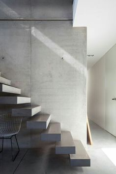 | STAIRS | something quite beautiful about the bold cantilever #concrete #tread #stair Photo Credit: Unknown (please let me know if you do and I will include appropriate credit)