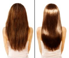 Coconut Oil Hair Treatment - Coconut oil is one of the best natural hair treatments for wide-ranging hair problems, like extensive dry hair, damaged, over-processed or heat damaged hair. Diy Hairstyles, Straight Hairstyles, Ladies Hairstyles, Modern Hairstyles, Hairstyle Ideas, Casual Hairstyles, Medium Hairstyles, Wedding Hairstyles, Curly Hair Styles