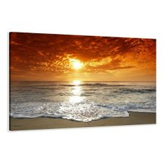 """Picture - art on canvas beach length 47"""" height 31,5"""", one-part parts model no. XXL 5038 Pictures completely framed on large frame. Art print Images realised as wall picture on real wooden framework. A canvas picture is much less expensive than an oil painting poster or placard by Visario, http://www.amazon.co.uk/dp/B0046MC45M/ref=cm_sw_r_pi_dp_6sxutb022802T"""