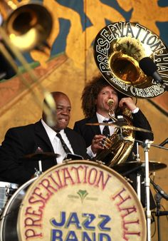 Preservation Hall at the New Orleans Jazz Fest