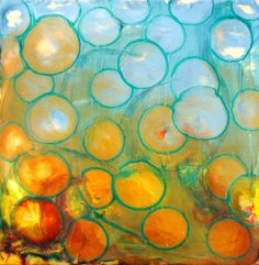 """Encaustic """"hot wax"""" painting. Would love to try some day."""