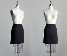 Black Mini Skirt 1990s Vintage Simple Black Mini Skirt by decades, $24.00