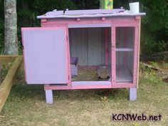 A pink Chicken Coop. The best...