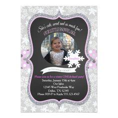 Winter ONEderland 1st Birthday Invitation Girl
