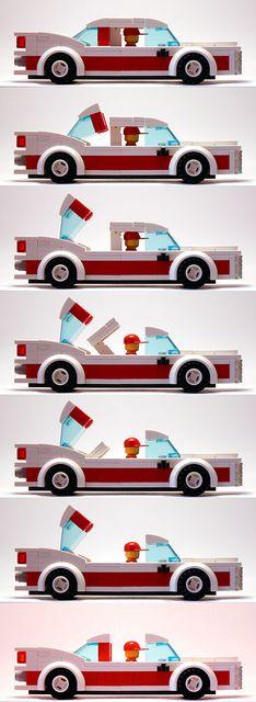 LEGO 2050 Cadillac Eldorado Convertible by afol1982, via Flickr