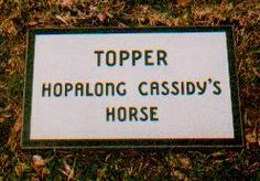 """Topper Cassidy - William Boyd's horse. When Boyd, the actor who portrayed the character of Hopalong Cassidy for approximately 40 years during which he took made 66 feature films and 52 half-hour television shows, took Grace Bradley as his wife in 1937, he obtained Topper that same year. The white stallion was named by way of Grace after her favorite book series, """"Topper,"""" written by Thorne Smith."""