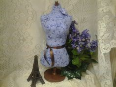 Boutique Dress Form jewelry display with wood by reminiscejewels