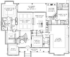Luxury Style House Plans - 5120 Square Foot Home , 2 Story, 5 Bedroom and 5 Bath, 3 Garage Stalls by Monster House Plans - Plan 85-117
