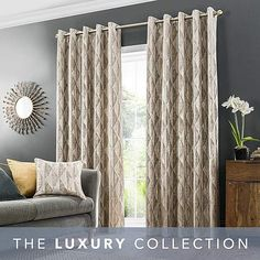 Curtains Dunelm, Luxor, Family Room, Shabby Chic, Cushions, Living Room, Modern, Champagne
