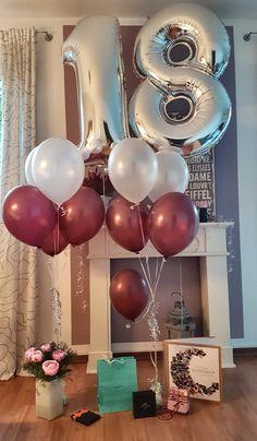 18th Birthday Party Themes, Simple Birthday Decorations, 21st Bday Ideas, Birthday Goals, 17th Birthday, Birthday Pictures, Deco Table, Birthday Balloons, Modern Design
