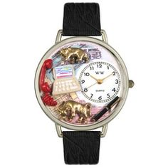 Stock Broker Black Skin Leather And Silvertone Watch #U0610003 - http://www.artistic-watches.com/2013/02/19/stock-broker-black-skin-leather-and-silvertone-watch-u0610003-2/