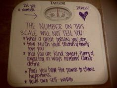 so true! Be healthy and happy. but don't obsess over a number!  Feel good about yourself and the beauty of your body!!