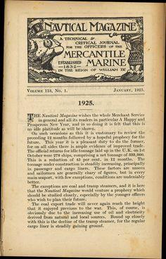 Nautical Magazine: 1924, 1925, 1926, 1956, 1957, March 1961, June-August 1961