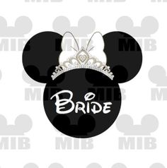 Disney Wedding BRIDE  Perfect for Your Disney by MiceInBlack, $5.00 cute to put on at tshirt for Arielle