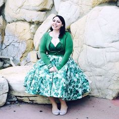 """We're loving @Delinquentdoll's look in the Jade Watercolor Honey Dress (sizes 0-22, $174). Get yours before the holidays! #trashydiva #vintagefashion…"""