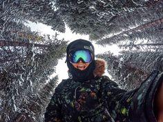 Gopro, girl, snowboard