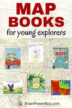 Kids love maps and these map books are perfect for encouraging their curiosity. {part of a free map unit study} Click to see all of the titles and links to other map resources.