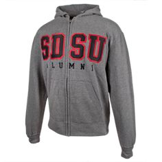 cb6298a1008 Big Cotton Alumni Zip Basic straight SDSU Alumni zip hooded sweatshirt  featuring a jersey lined hood