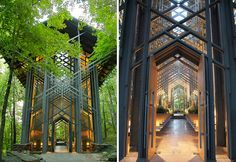 Frank Lloyd Wright Student - E. Fay Jones designs   lugares extraordinarios e maravilhosos no mundo que ficam escondidos e ...