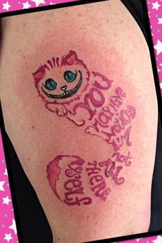 cheshire cat tattoo. change face to original disney face