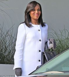 Kerry Washington Scene | Sticking to white: Scandal bosses aren't letting Kerry Washington's ...